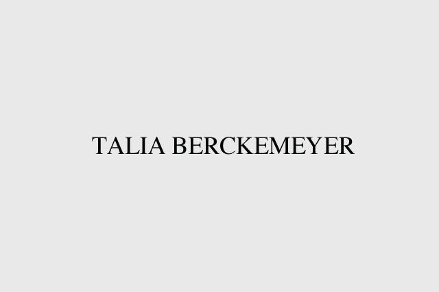 TALIA BERCKEMEYER